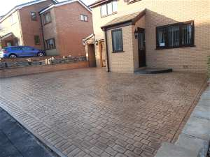 The finished driveway